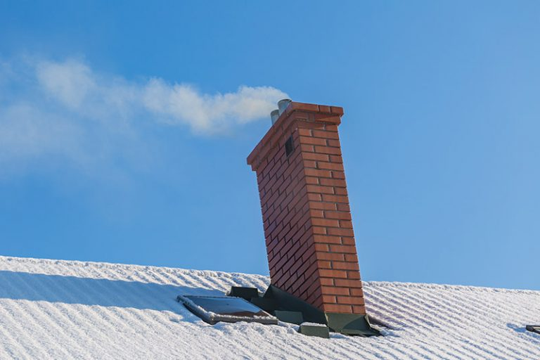 Chimney during winter.